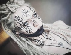 Grimfrost Webshop – Authentic Viking Products from Sweden - Makeup Looks Dramatic Fx Makeup, Cosplay Makeup, Costume Makeup, Witch Makeup, Viking Makeup, Maquillage Goth, Tribal Makeup, Bild Tattoos, Theatrical Makeup