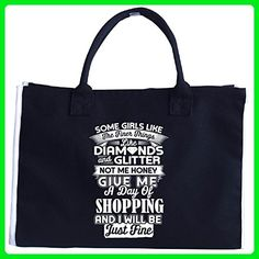 Some Girls Like Finer Things Give Me A Day Of Shopping - Tote Bag - Top handle bags (*Amazon Partner-Link)