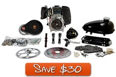 49cc 4G T Belt Drive Complete Gas Powered Engine Kit...bicycle-engine.com