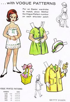 (⑅ ॣ•͈ᴗ•͈ ॣ)♡                                                             ✄Paper Dolls, via Flickr.