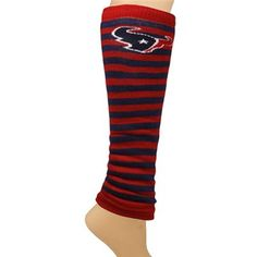 Seriously contemplating these! -- Houston Texans Ladies Team Stripes Leg Warmers - Navy Blue/Red
