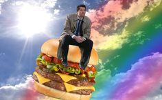 Castiel/Burger. #Supernatural #Funny