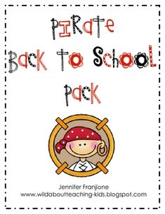 Everything you need for a Pirate themed classroom! Just need some cardstock & you can start printing. This pack includes desk tags, bathroom, media passes, Most Valuable Pirate sheet, months of the year for your calendar time & much more! School Classroom, Classroom Themes, School Fun, Classroom Organization, Back To School, School Pack, Future Classroom, School Stuff, Preschool Pirate Theme