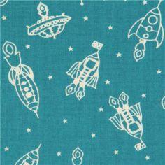 teal rocket birch organic fabric from the USA spaceship (per 0.5 yard multiple) Birch Fabrics http://www.amazon.com/dp/B00DFXC8OK/ref=cm_sw_r_pi_dp_1xZRtb1E21V3YAQ9