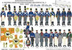 プレート145:プロイセン王国:第四連隊第5号1810年から1815年Ostpreußisches歩兵