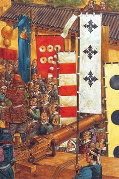 """Toyotomi Hideyori prepares to leave Osaka Castle for the last time, 4 june 1615"", Richard Hook"