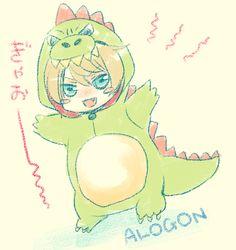 Alois Trancy in a dinosaur costume <3 #kuroshitsuji #blackbutler