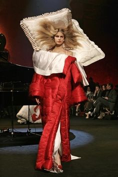 Viktor & Rolf It's a dress, it's a sleeping bag....with pillows! Great for camping. Should do well this summer.
