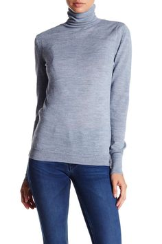 Slim Polo Turtleneck Sweater