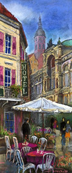 Germany Baden-Baden 07 Drawing by Yuriy Shevchuk