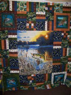 Realtree Bass Fish Fleece Fabric Panel   Cakes - Prints Camo and Wildlife   Pinterest   Fleece ...
