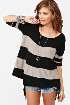 slouchy stripe knit :)