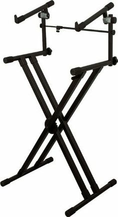 "On-Stage Stands Deluxe Heavy Duty X 2-Tier Keyboard Stand by On-Stage Stands. $79.99. Pro-level On-Stage Stands deluxe heavy-duty double-X keyboard stand is built with 2 tiers and styled for demanding musicians. Super heavy-duty tubing and welded construction support 395 lbs. on the bottom tier. Frame allows height adjustment from 27"" to 39"" and width adjustment from 11"" to 30"". The second tier supports 75 lbs. Uses ERGO-LOK technology for ease of use. The ERGO-LOK ..."