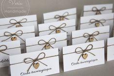 rustykalne winietki na wesele Destination Wedding, Wedding Planning, Wedding Day, 18th Birthday Party, Place Card Holders, How To Plan, Bridal, Handmade, Diy