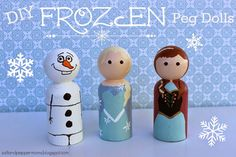 "DIY ""Frozen"" Peg Dolls - Katie rose"