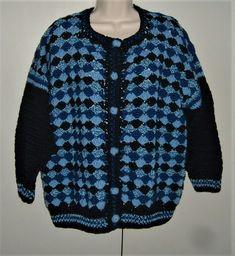 Unique original hand crochet lady's designer jacket ( ref F801 ) £45.00