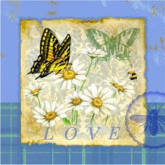 @rosenberryrooms is offering $20 OFF your purchase! Share the news and save! (*Minimum purchase required.) Butterfly Papillon Plaid I Canvas Reproduction #rosenberryrooms
