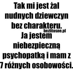 Hahah 😂😂😈 To nie ja Happy Quotes, True Quotes, Wtf Funny, Funny Memes, Polish Memes, Important Quotes, Gewichtsverlust Motivation, I Hate People, Humor