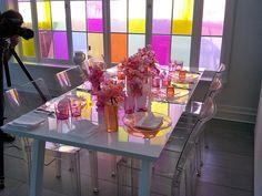 loving this bright decor via: marthastewartweddings.com
