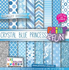 Hey, I found this really awesome Etsy listing at https://www.etsy.com/listing/197607540/blue-celeste-and-silver-patterns-digital