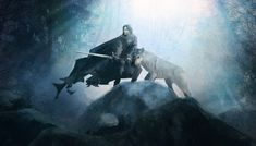 Jon Snow and Ghost (A Song of Ice and Fire) by guillemhp deviantART