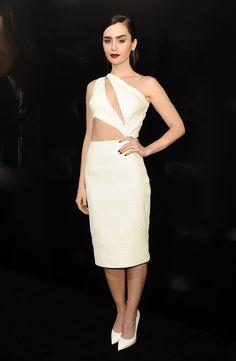 Las mejor vestidas de la semana - Lily Collins - Cushnie et Ochs
