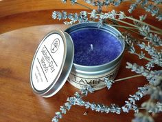 Lavender scented rustic candle tin. Handmade with care to give a moment's relaxation and aromatherapy in a busy world. Rustic Candles, Tin Candles, Lavender Scent, Lavender Fields, Sabbath, Wood Art, Aromatherapy, Woods, Wax