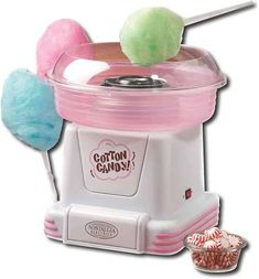 Nostalgia Hard & Sugar-Free Candy To Cotton Candy Maker. The cotton candy maker transforms your favorite hard and sugar-free candies into fluffy, melt-in-your-mouth cotton candy. Hard Candy, Cool Kitchen Gadgets, Cool Kitchens, Cotton Candy Cone, Nostalgia, Sugar Free Candy, Jolly Rancher, Geek Gadgets, Top Gadgets