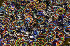 The intricate #beadwork of the Maasai tribe, a Nilotic ethnic group of semi-nomadic people located in Kenya and northern Tanzania.
