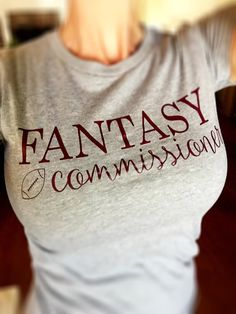 Women's Graphic Tee /  Fantasy Football by DernierCriAddict
