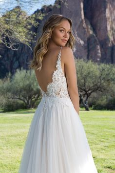 Sweetheart Gowns Slim A-Line Gown with Illusion Bodice and Eyelash Lace Bodice Wedding Dress, Lace Wedding Dress With Sleeves, Dresses With Sleeves, Lace Bodice, Pretty Wedding Dresses, Bridal Dresses, Bridesmaid Dresses, Sweetheart Gowns, Deb Dresses