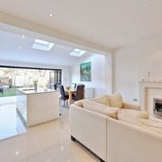 kitchen rear extension ealing with pitched roof : Modern kitchen by nuspace Rear Extension, Extension Ideas, Extension Google, Modern Roofing, Corrugated Roofing, Tin Roofing, Roofing Shingles, Fibreglass Roof, Roof Architecture