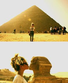 kiss a sphinx...way cooler than the leaning tower of pisa thing lol