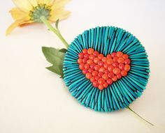 With All My Heart / Handmade polymer clay statement ring