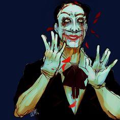 Pissom Soup Sander Cohen, Bioshock, Videogames, Joker, Soup, Heart, Artwork, Red, Fictional Characters