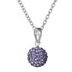 Crystal Earrings-KIVN Womens Fashion Jewelry Shamballa Shambaber round ball Crystal Necklaces Pendant 10mm