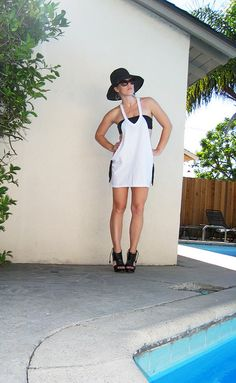 Cotton T-shirt bathing suit cover-up-DIY-pool-1contrast by ...love Maegan, via Flickr