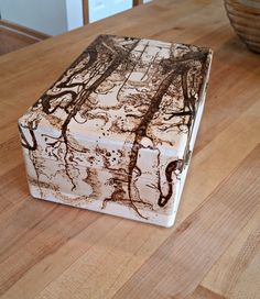 Wood Burned Magic the Gathering Deck Box by DragonWhelpDesigns