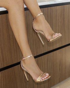 High Heels For Prom, Formal Heels, Rose Gold High Heels, High Heels For Women, Classy High Heels, Gold Lace Up Heels, Sliver Heels, Gold Heals, Gold Strap Heels