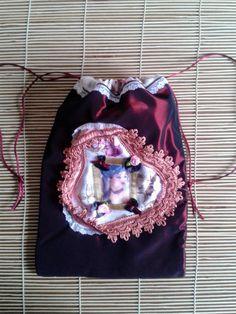 jewellery bag romantic pouch tarot oracle por ShabbyChicVintageBag