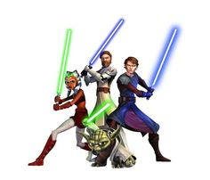 Star Wars: The Clone Wars.i think Jedi knights are awesome !