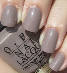 """gorgeous pale taupe from Opi """"Berlin there done that"""" The PolishAholic: OPI Fall 2012 Germany Collection Swatches!"""