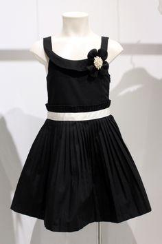 "Quis Quis Spring Summer 2015. Black dress from ""Black and white"" collection.#quisquis #SS15 #spring #summer #springsummer2015 #childrens #kids #childrenswear #kidswear #kidsfashion #girls #boys #pittibimbo79"