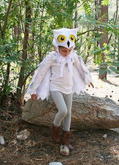 Owl Costume Sizes 18 months- Snowy Owl- Imagination Play- Dress Up- Hedwig- Harry Potter- Halloween