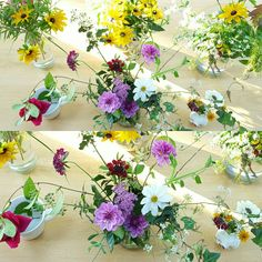 Flower designing in preparation for a colourful tablescape.