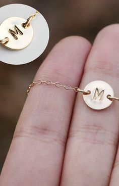 sweet initial necklace