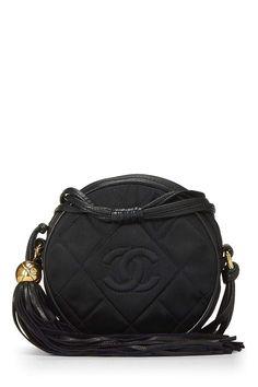 0230847d666924 CHANEL Black Round Quilted Satin Mini Tassel Crossbody (Pre-Owned). Luxury  MarketingChanel HandbagsJewelry GiftsSaddle BagsChanel BlackLeather ...