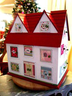 Christmas advent house - amazing!!!!!