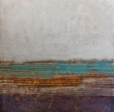 """Ripples on the Grand Canal, Oil & Wax on panel, 48"""" x 48"""" (122 cm x 122 cm), 2014, SOLD."""