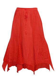 Mogul Interior Women's Long Skirt Embroidered Rayon Bohemian Hot Red M Hippie Skirts, Bohemian Skirt, Bohemian Gypsy, Bohemian Style, Boho Chic, Red A Line Skirt, Long A Line Skirt, A Line Skirts, Long Skirts